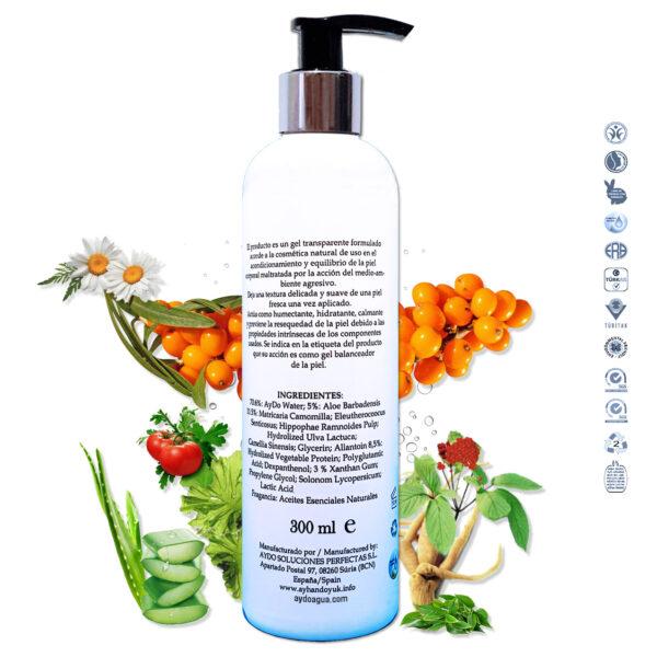 Gel serum crema hidratante Corporal Hidratante ingredientes aydoagua