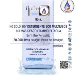 Detergente Multiusos ecologico anion descontamina agua -aydoagua