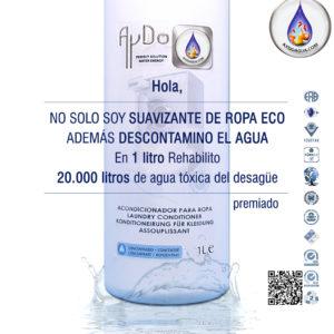 Suavizante para ropa ecologico descontamina agua 1Lx20.000L-aydoagua
