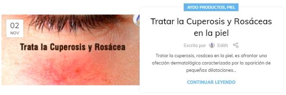 Tratar la Cuperosis y Rosaceas en la piel aydoagua.com