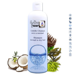 Champu reparador ecologico cabellos secos anti frizz y dañados vegan ingredientes 300 aydoagua