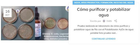 Potabilizador de Agua Purificador agua aydoagua.com