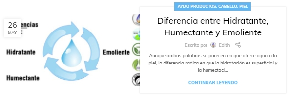 Diferencia entre Hidratante, Humectante y Emoliente aydoagua.com