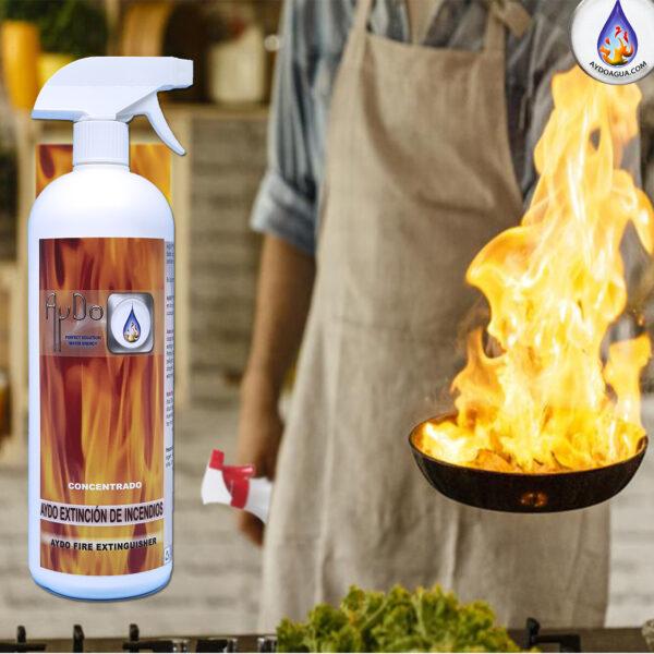 Extintor ecologico concentrado casa fuego sarten -aydoagua