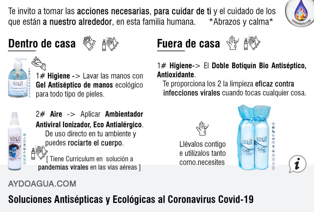 Soluciones Antisépticas Covid aydoagua.com