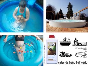Sales de baño minerales termales aydoagua
